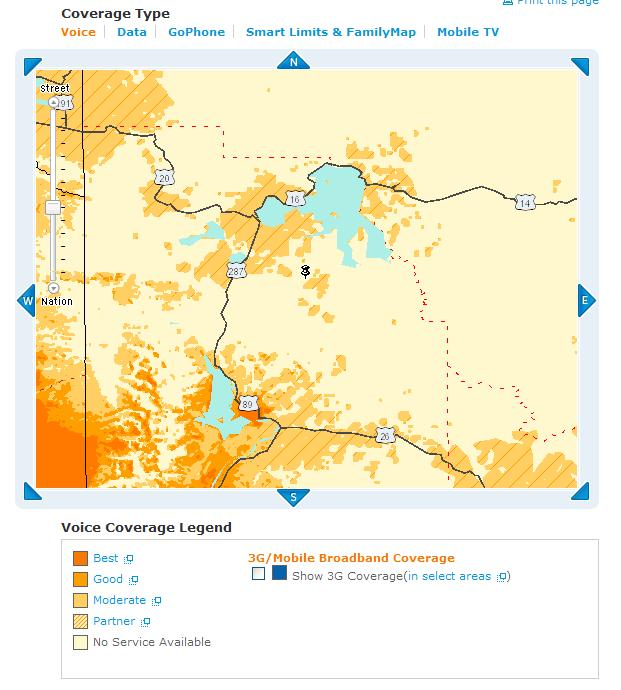 Cell Coverage In Yellowstone National Park - Go phone coverage map