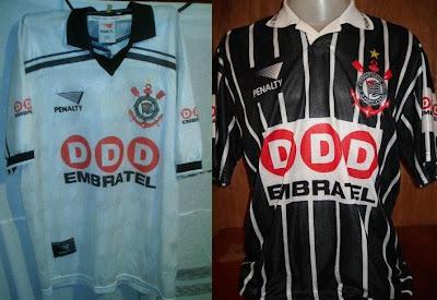 Nos outros 2 jogos a camisa usada foi com a inscrição  DDD Embratel  bca33f37a1c52