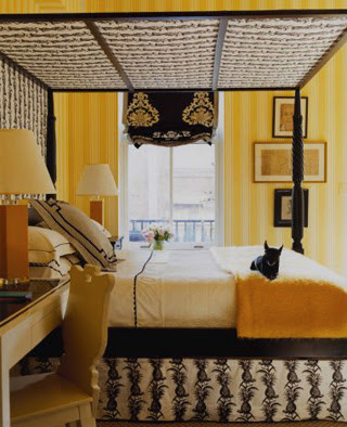 gorgeous black yellow white room which courtney at stylecourt