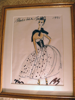 Absolutely Beautiful Things: Bill Blass Fashion Sketch :  beautiful designer sketch illusttration