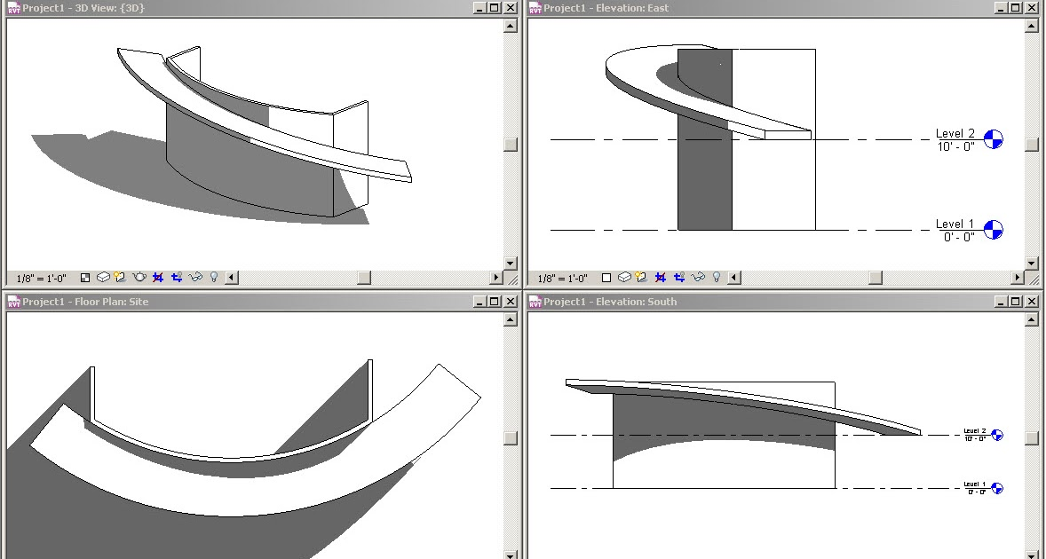 Revit Oped Roof Example
