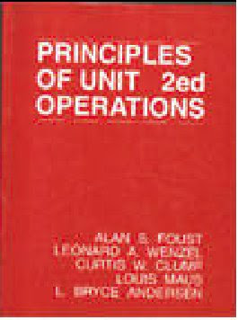 avibert unit operations course textbook by alan s foust rh avibert blogspot com Operation Manual Cover Operations Manual Examples