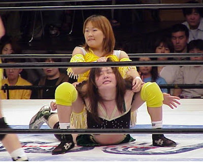 Chikayo Nagashima, camel clutch, wrestling women, japanese women wrestling