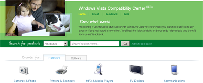 Windows Vista Compatibility Center