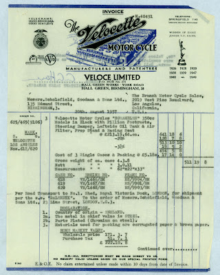 """The Velobanjogent: The North American Velocette shop....aka Ed Gilkison's """"Toy shop""""...."""