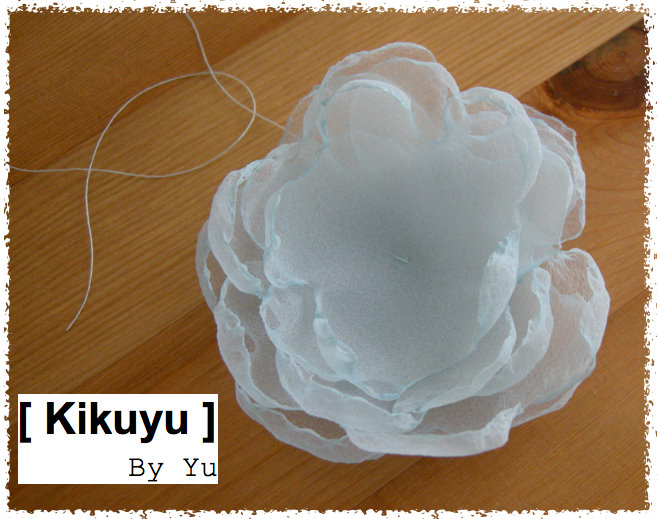 kikuyu fleur en tissu fabric flower. Black Bedroom Furniture Sets. Home Design Ideas