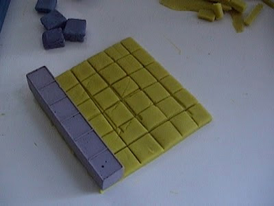 base ten blocks and playdoh