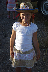 Katie dressed for the Rodeo....well almost