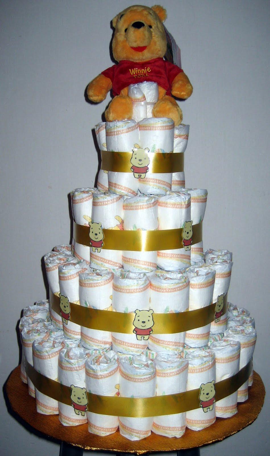 tartas de pa ales y mas tarta 4 pisos dorada winnie the pooh. Black Bedroom Furniture Sets. Home Design Ideas