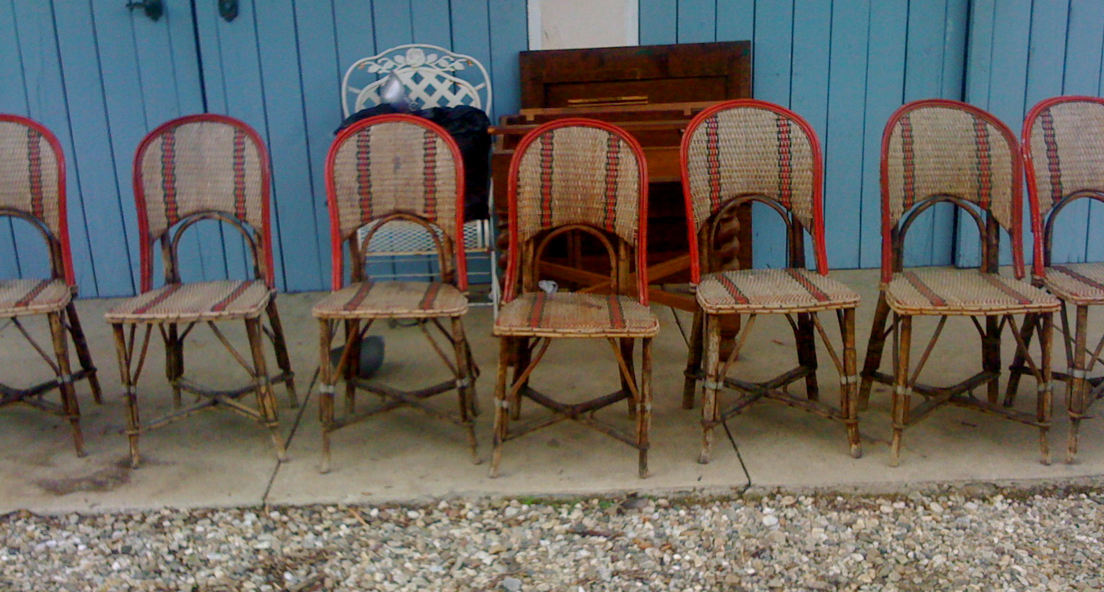 antique french bistro table and chairs modern white dining rattan