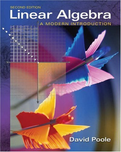 Linear algebra david poole solutions manual