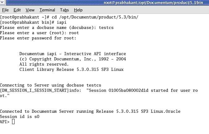 Verification of a new documentum content server setup