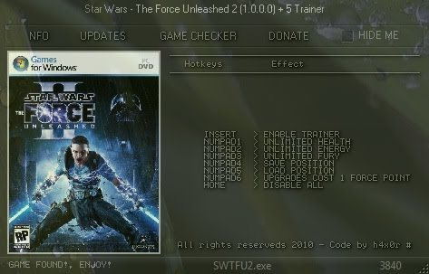 Star Wars The Force Unleashed 2steam40 Trainer Star Wars The