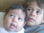 Jumi (2 months), Dido (3 yrs) - Feb. 2008
