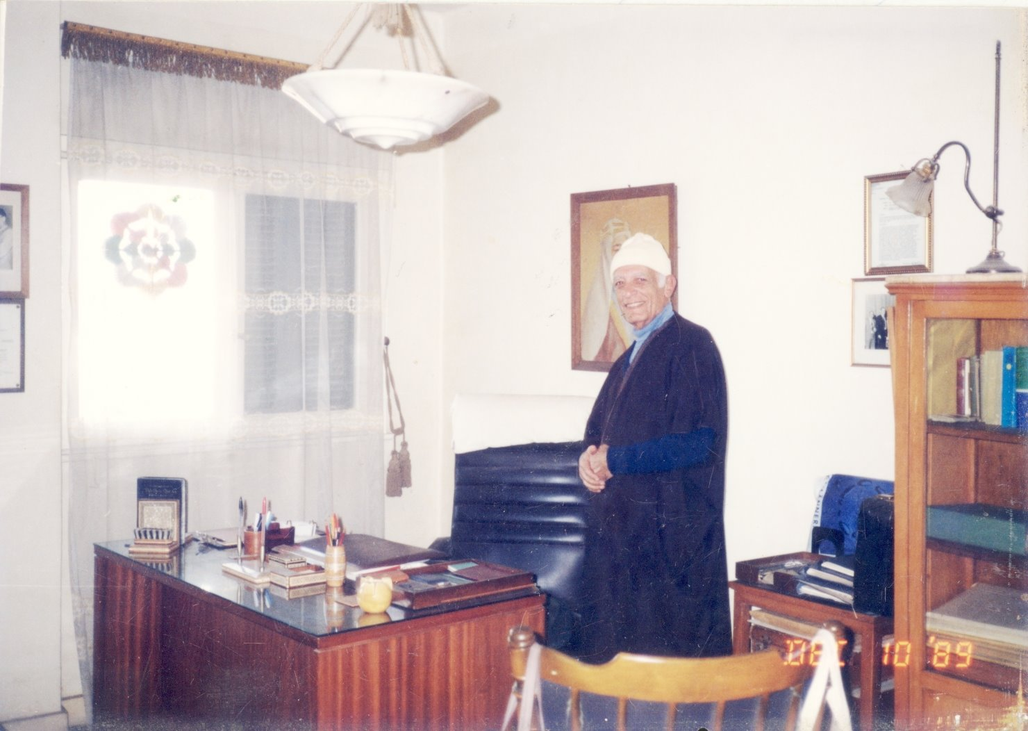 Daddy in his Home Office after retirement