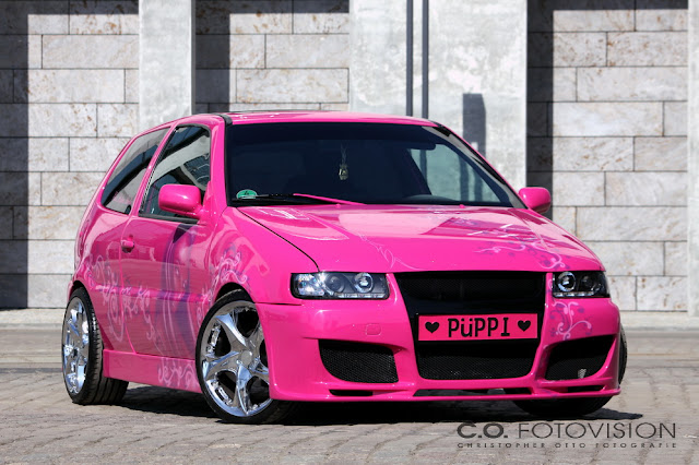 tuningpix vw polo pink lady. Black Bedroom Furniture Sets. Home Design Ideas