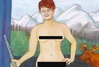 Artist Brude Elliott Follows Up Naked Sarah Palin Painting With Nude Rod Blagojevich