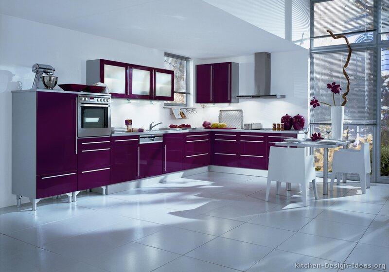 Luxurious Kitchen Purple Kitchens Design Interior Home