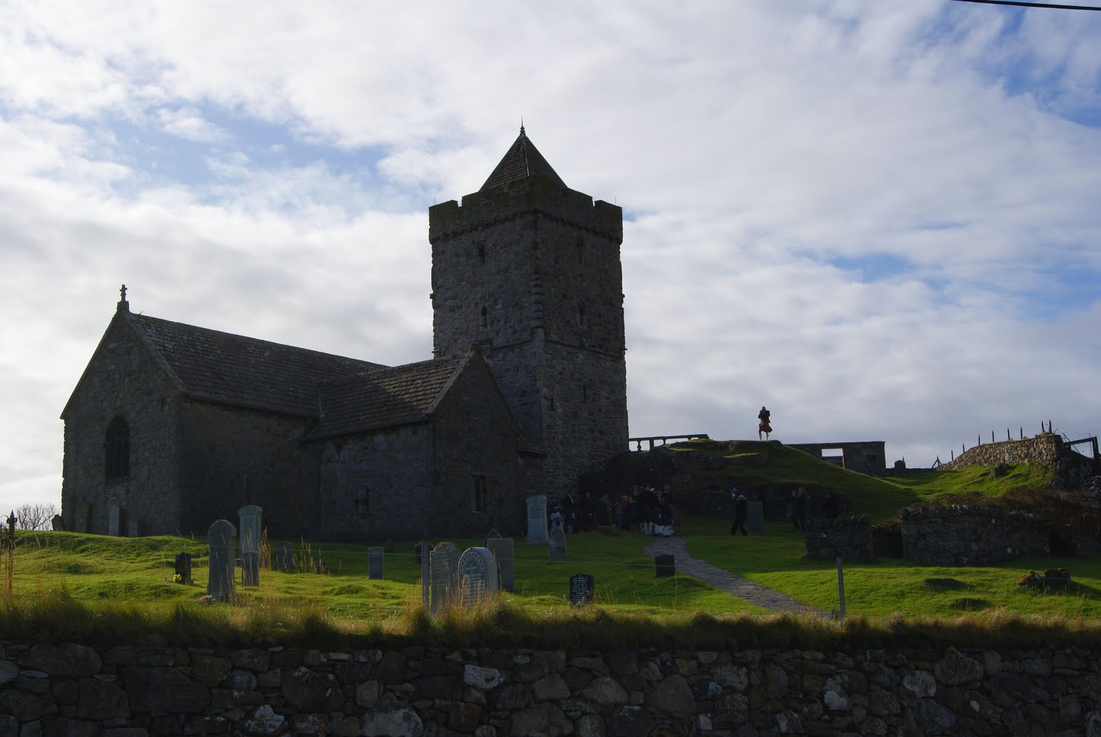 Light and Dark: St Clements Church, Rodel, Harris