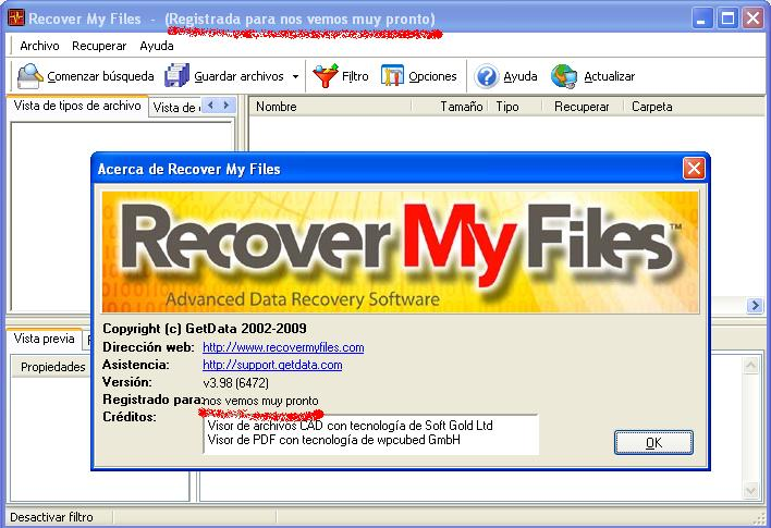 TÉLÉCHARGER RECOVER MY FILES 3.9.8