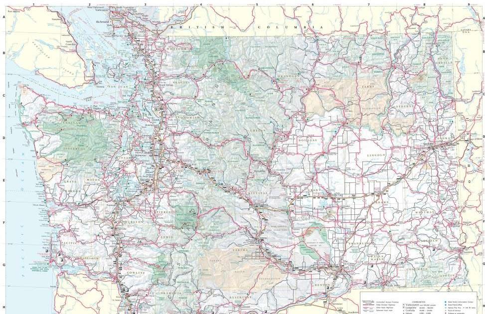Washington Preppers Network Washington State Highway Map
