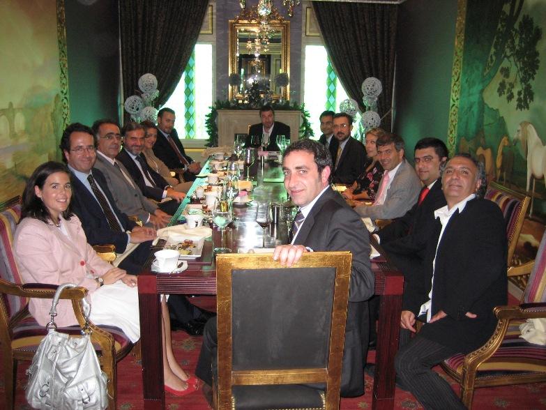 déjeuner avec Alfonso et Fernando Rodés, World Trade Center Dubai - club