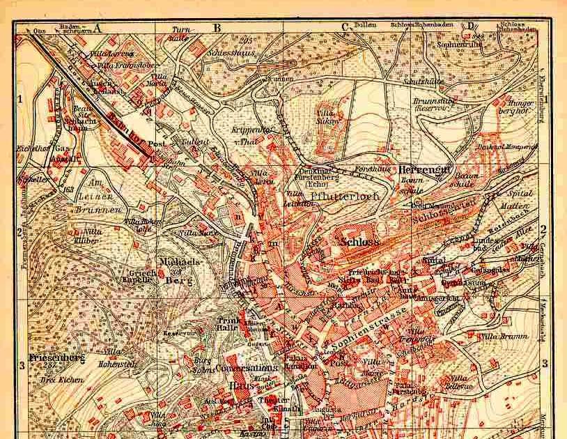 Baden Baden.De Stadtplan