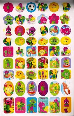 Littlewonderlandfriends Barney Baby Bop Amp Bj Stickers