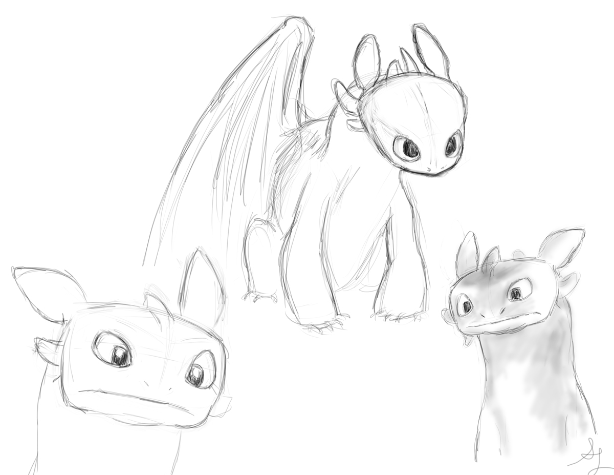 How To Draw Night Fury Dragon Step By Step How To Draw Baby Night Fury Baby  Toothless Step 4 1