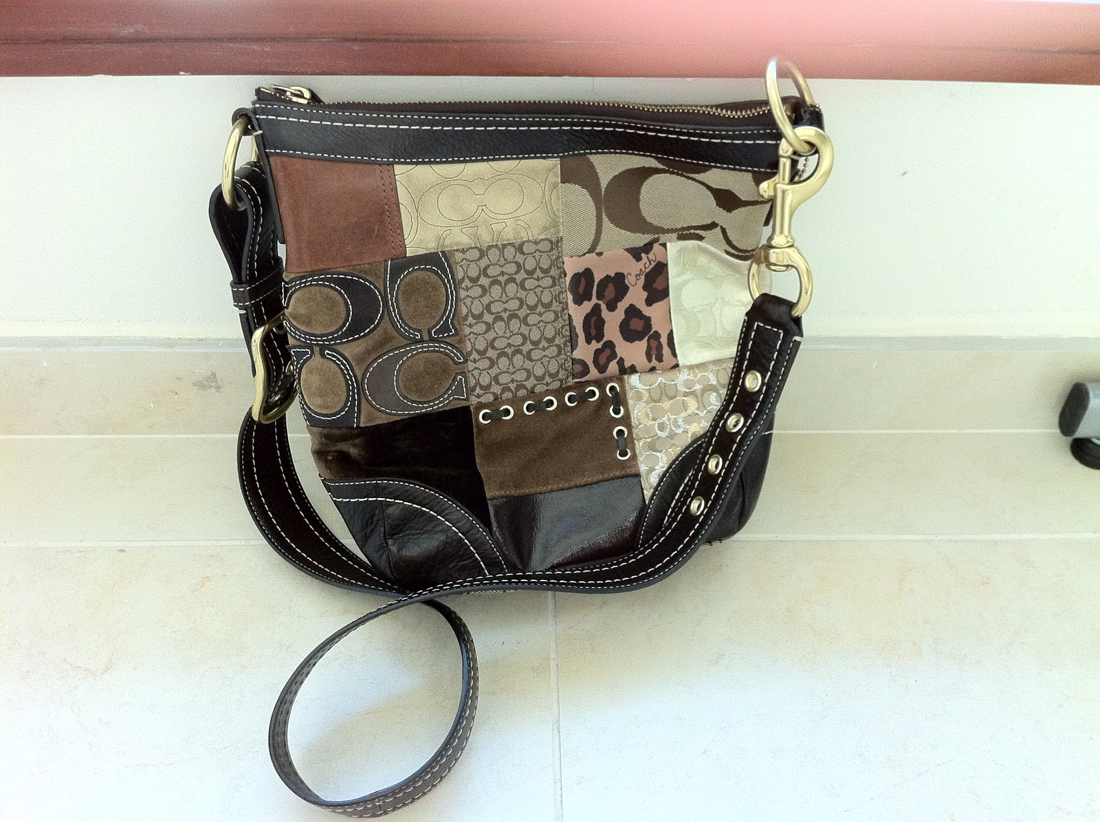 Bags and Bags: Coach Patchwork Sling Bag