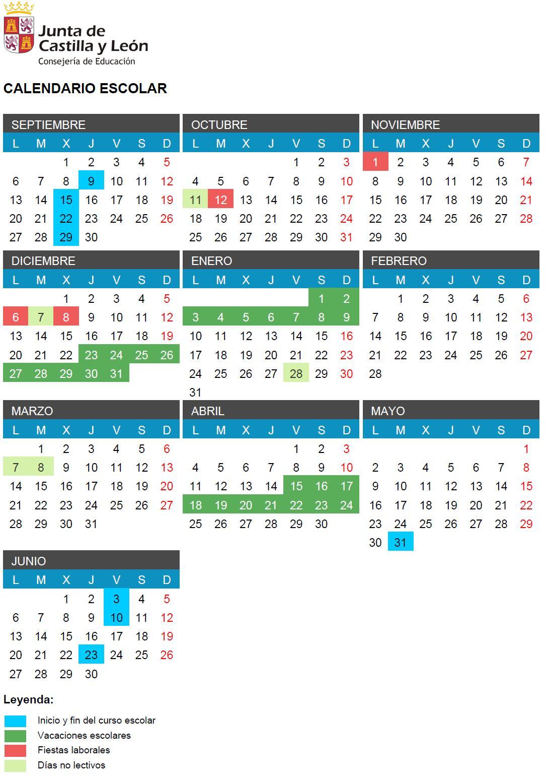 Calendario Educacyl.Dialogos Del Duero El Calendario Escolar I De Iii