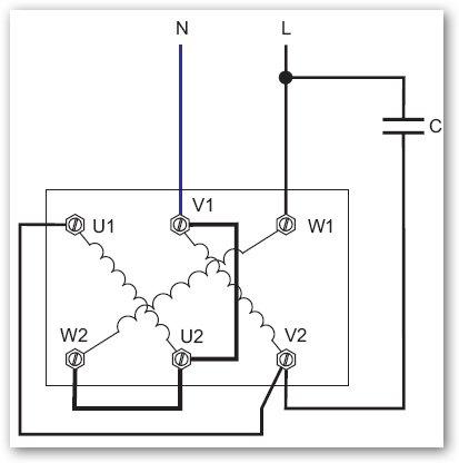 Como conectar un motor trif sico a 400v a 230 monof sico y - Cambiar instalacion electrica sin rozas ...