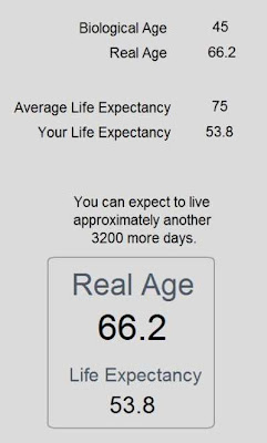 My Physical age and life expectancy