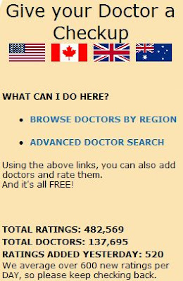 Check out YOUR doctor - Click here.