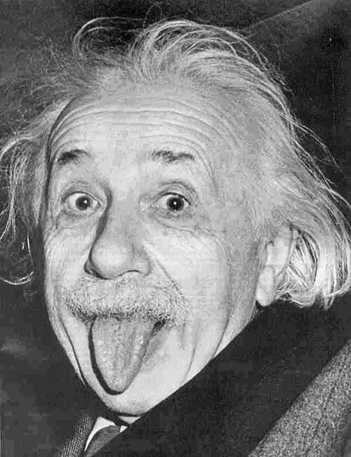 Why did Einstein stick out his tongue in that famous photo?