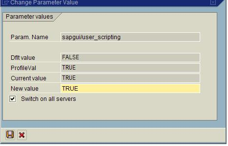 Enabling SAP application SAP GUI for testing with