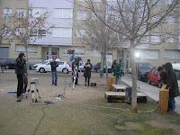 Preparación del set de rodaje