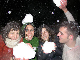 Mila, Jaume, Marta y Kike