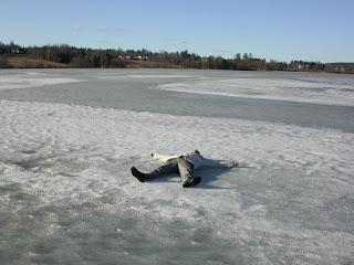 Lago congelado Suecia