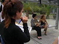 Las actrices en un momento del corto