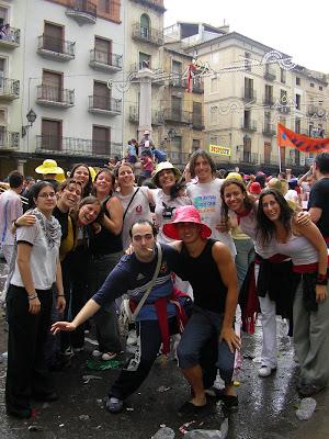 En la plaza del Torico de Teruel