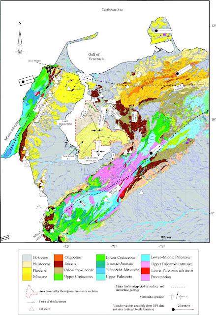 Mapa Geológico del Occidente de Venezuela