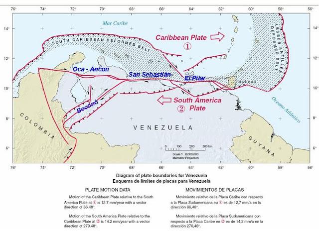 Mapa de la falla de Boconó, Edo. Trujillo.