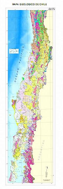 Mapa Geológico de Chile.