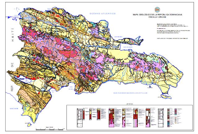 Mapa Geológico de República Dominicana.