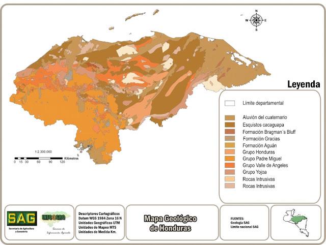 Mapa Geológico de Honduras