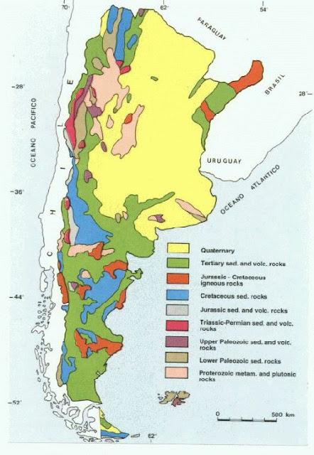 Mapa Geologico de Argentina.