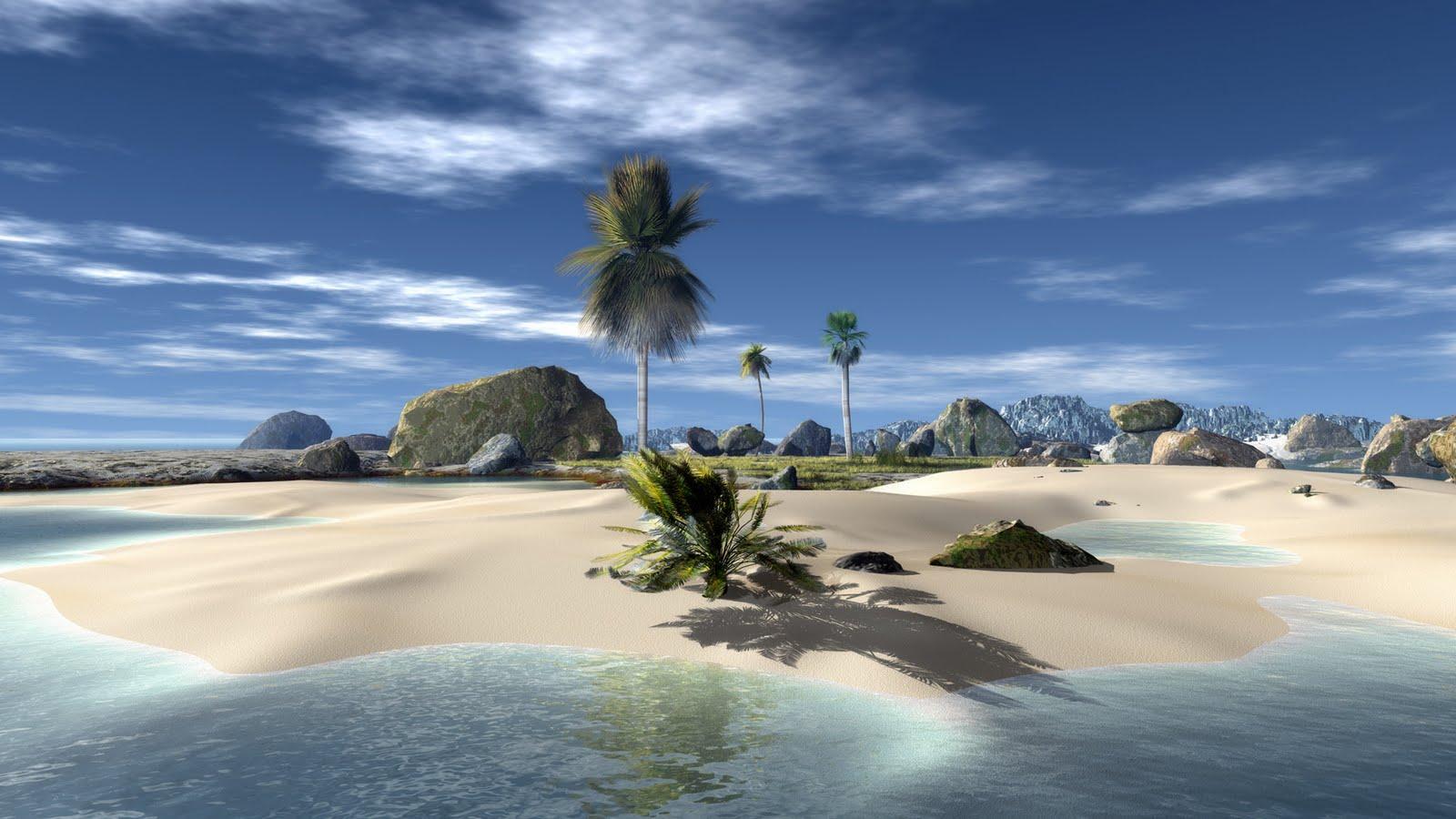 Tropical Paradise Beach Hd Wallpaper For Nexus 7 Screens: Widescreen Paradise Beach