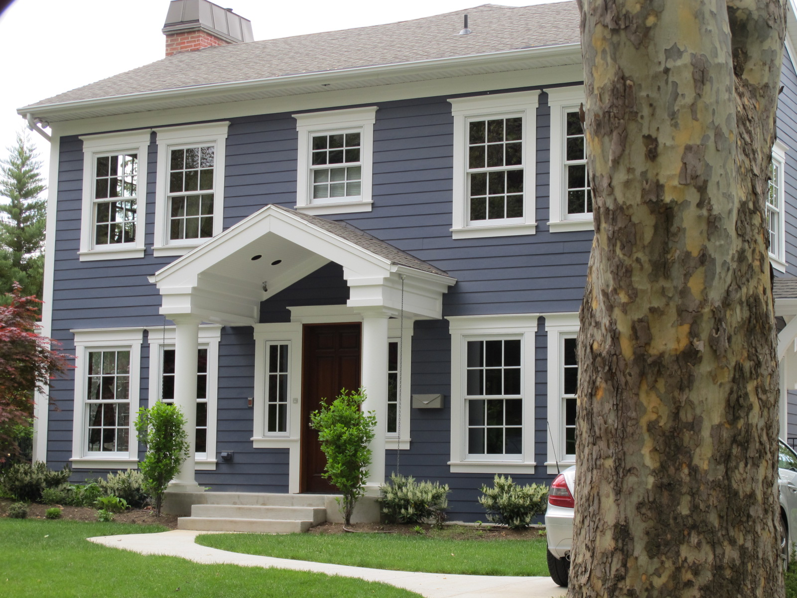 Michele dunker interiors blue houses - Houses with white trim ...