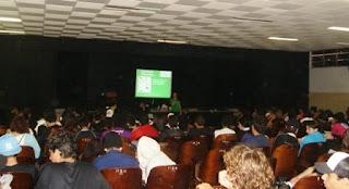 Auditório do Aristóteles Ferreira lotado pra ouvir sobre meio ambiente